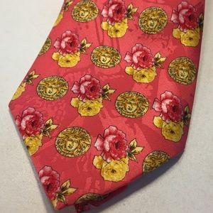 Gianni Versace Medusa Roses Silk Tie